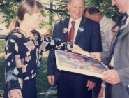 Ana with president of Serbia Tomislav Nikolić