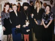 Ana a Nataša s vladikom Ignjatijem 1999