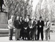 Jan Knjazovic s Oto Bihalji Merinom a maliarmy z Kovacice